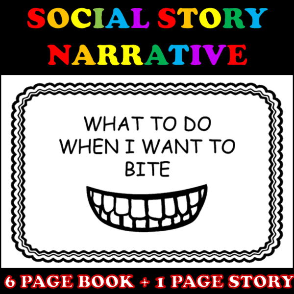 Biting Social Story Cover
