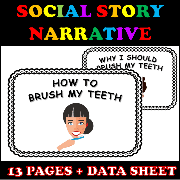 Purchase our social story for teaching the skill of brushing teeth on TeachersPayTeachers .