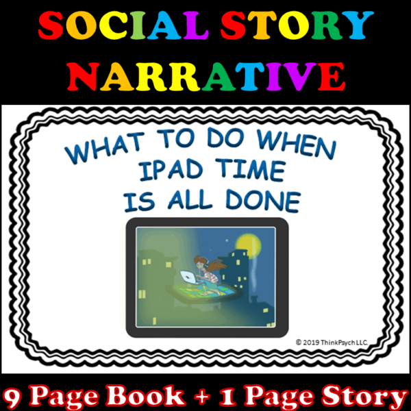 iPad Time is All Done Social Story Cover