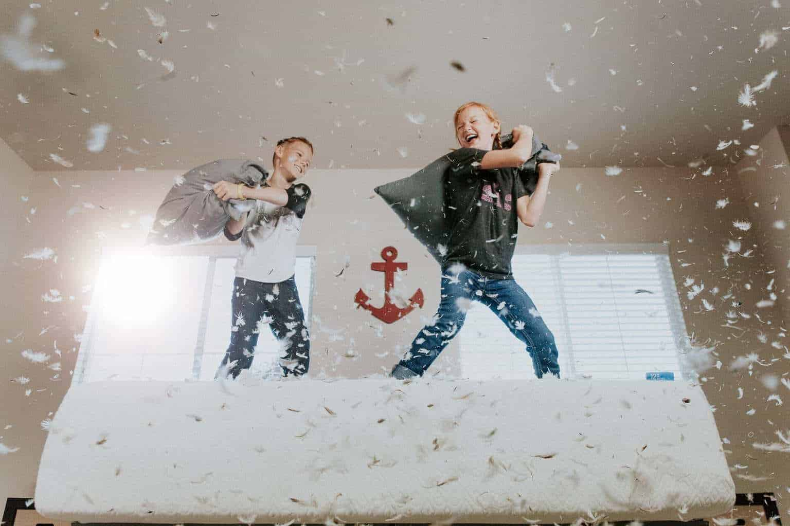 A wide variety of activities can serve as reinforcers. Allowing children to have a pillow fight would be considered an example of a positive reinforcer, even though it makes a mess! Use with caution.
