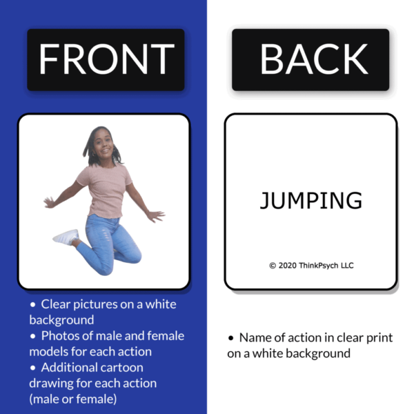 First Actions ABA Flash Cards Front and Back View