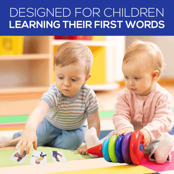 First Actions ABA Flash Cards Children Playing