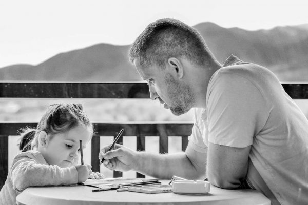 Father-Teaching-Daughter